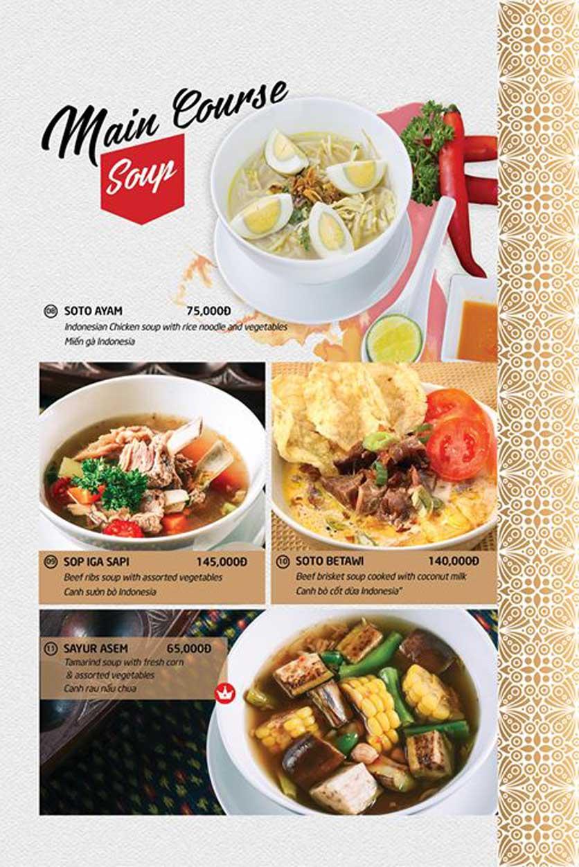Menu Batavia Restaurant & Cafe - Xuân Diệu 3