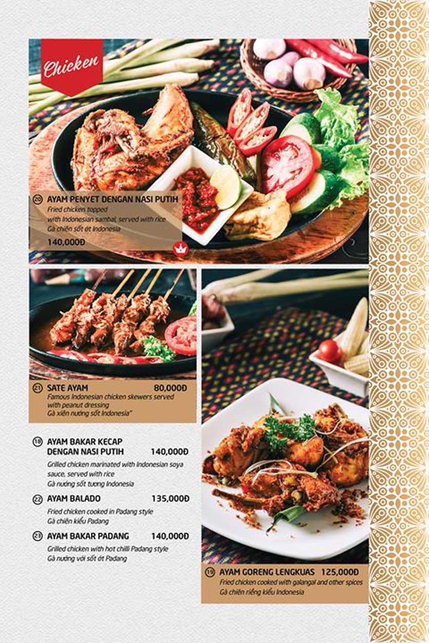 Menu Batavia Restaurant & Cafe - Xuân Diệu 5