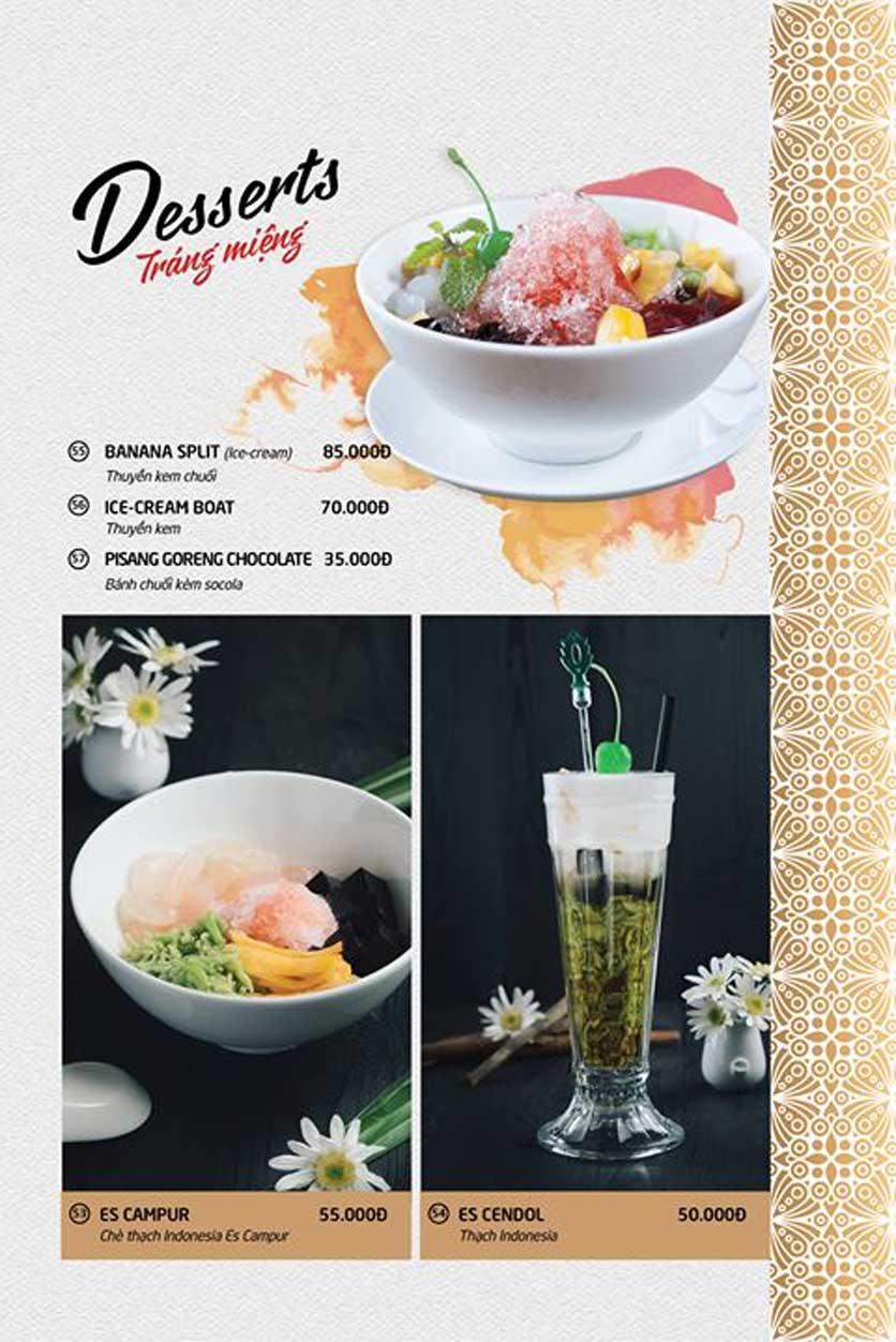 Menu Batavia Restaurant & Cafe - Xuân Diệu 9