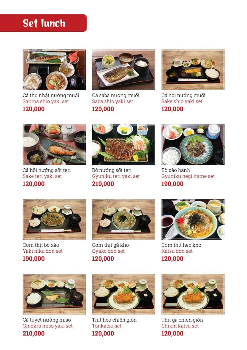 Menu Sushi Ginza - Nguyễn Thiện Thuật 1