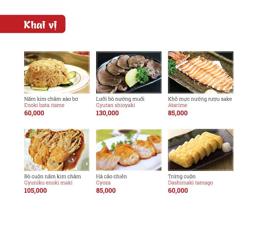 Menu Sushi Ginza - Nguyễn Thiện Thuật 3