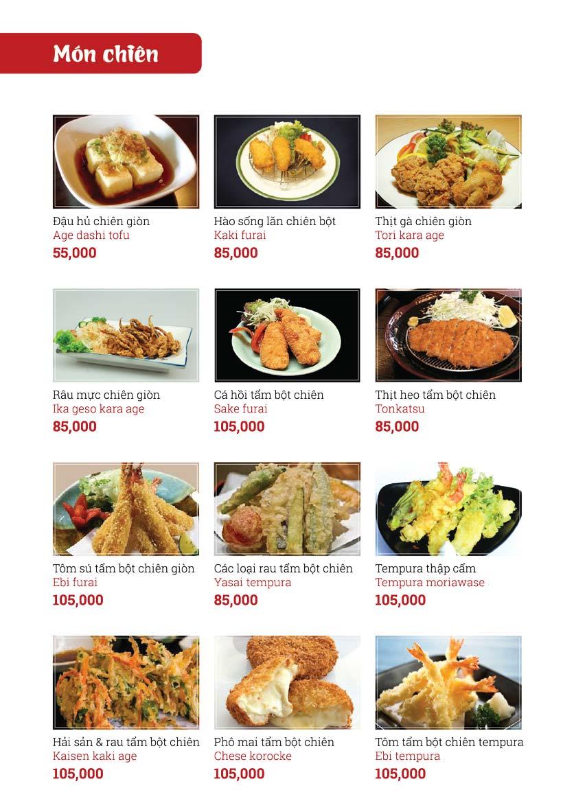 Menu Sushi Ginza - Nguyễn Thiện Thuật 5
