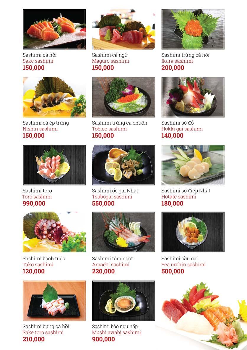 Menu Sushi Ginza - Nguyễn Thiện Thuật 7