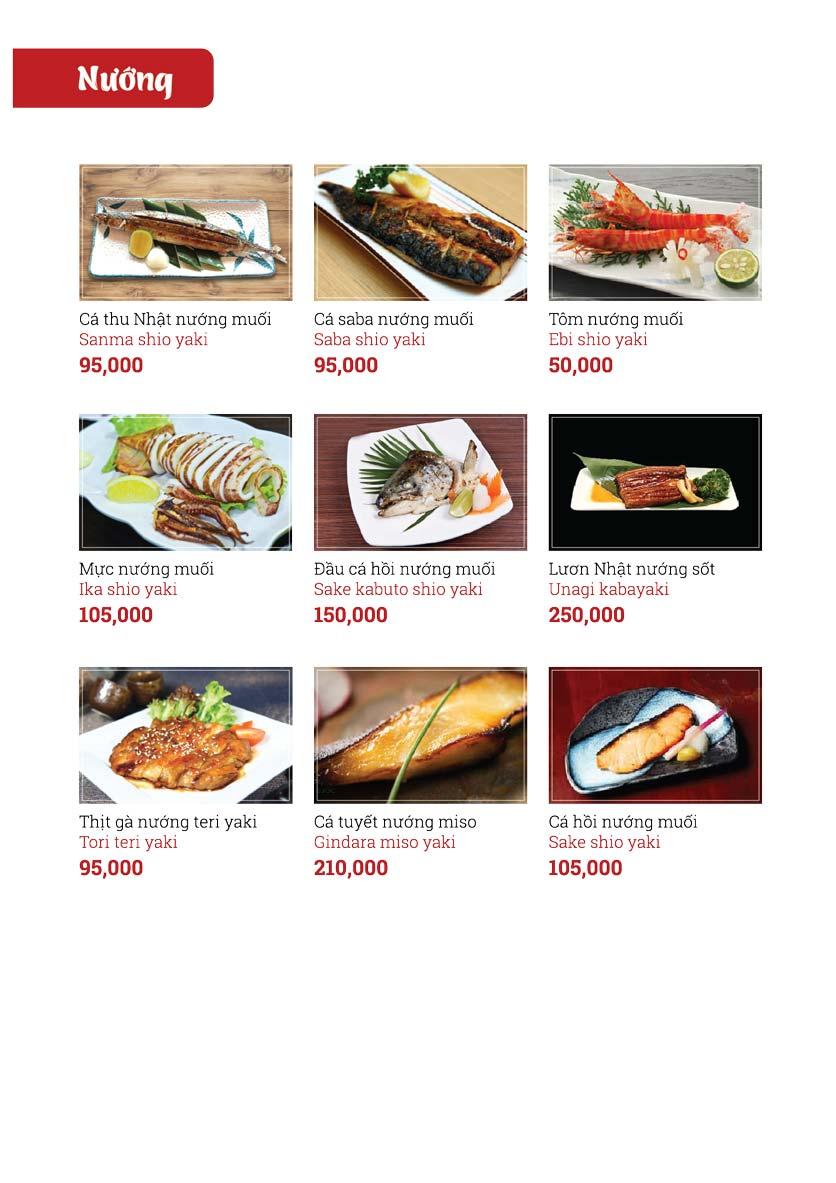 Menu Sushi Ginza - Nguyễn Thiện Thuật 8
