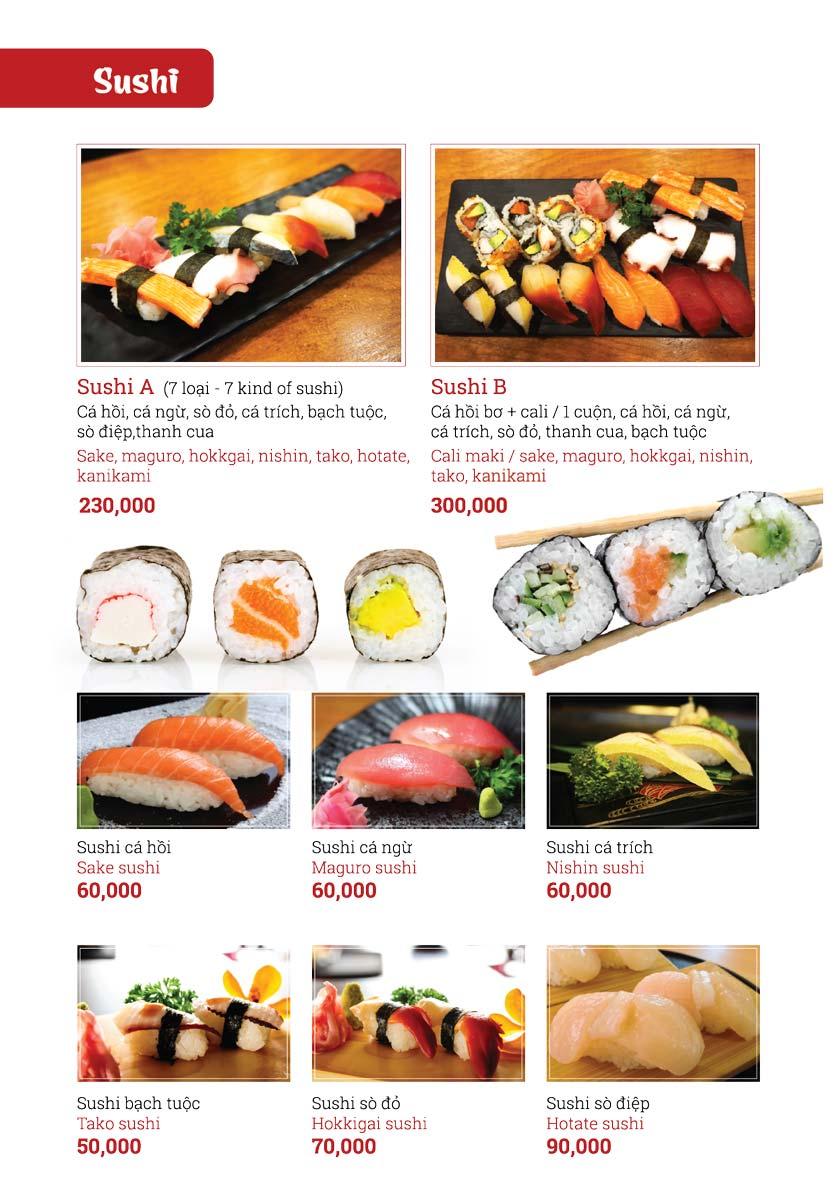 Menu Sushi Ginza - Nguyễn Thiện Thuật 10