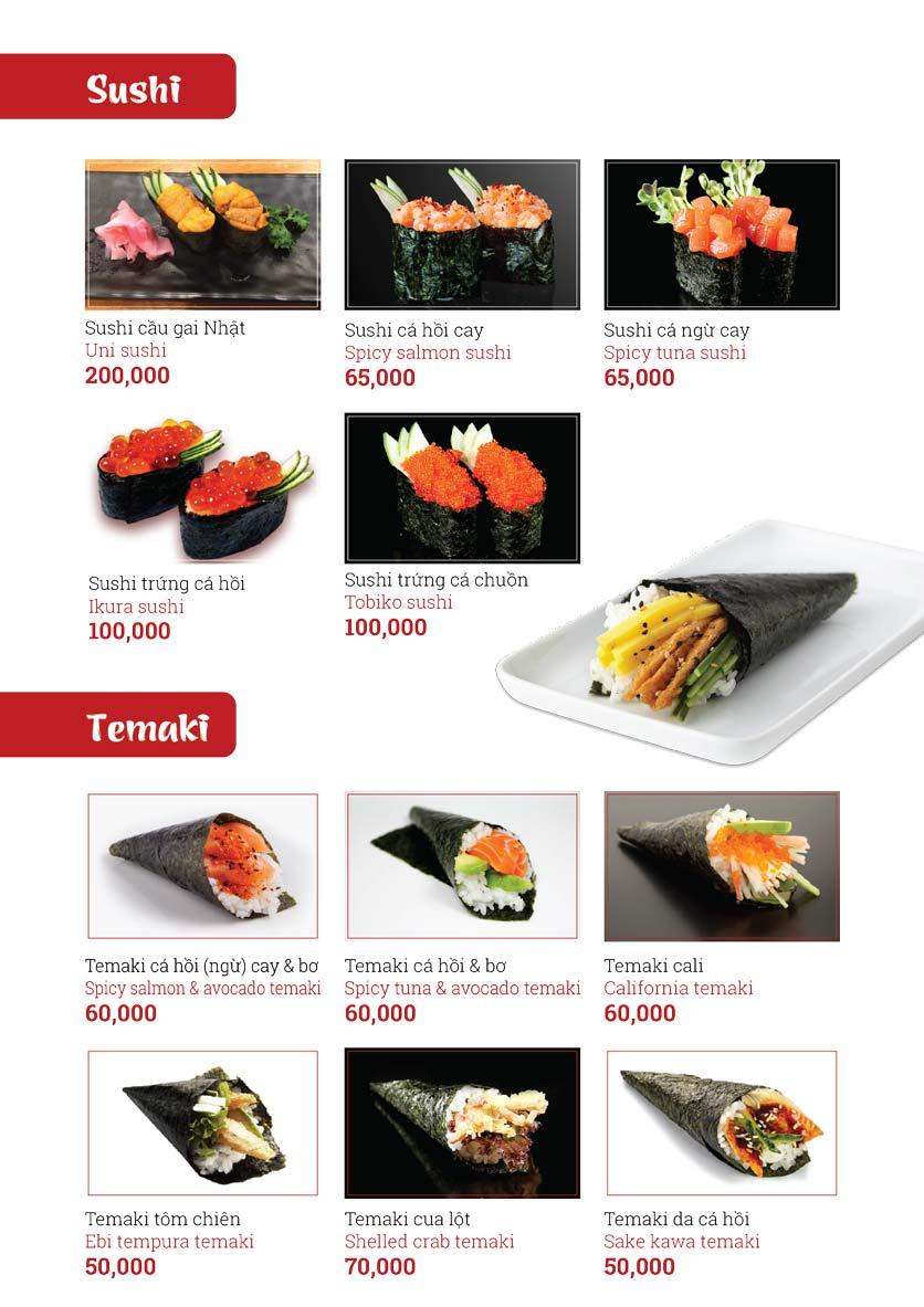 Menu Sushi Ginza - Nguyễn Thiện Thuật 11