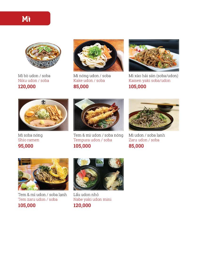 Menu Sushi Ginza - Nguyễn Thiện Thuật 14