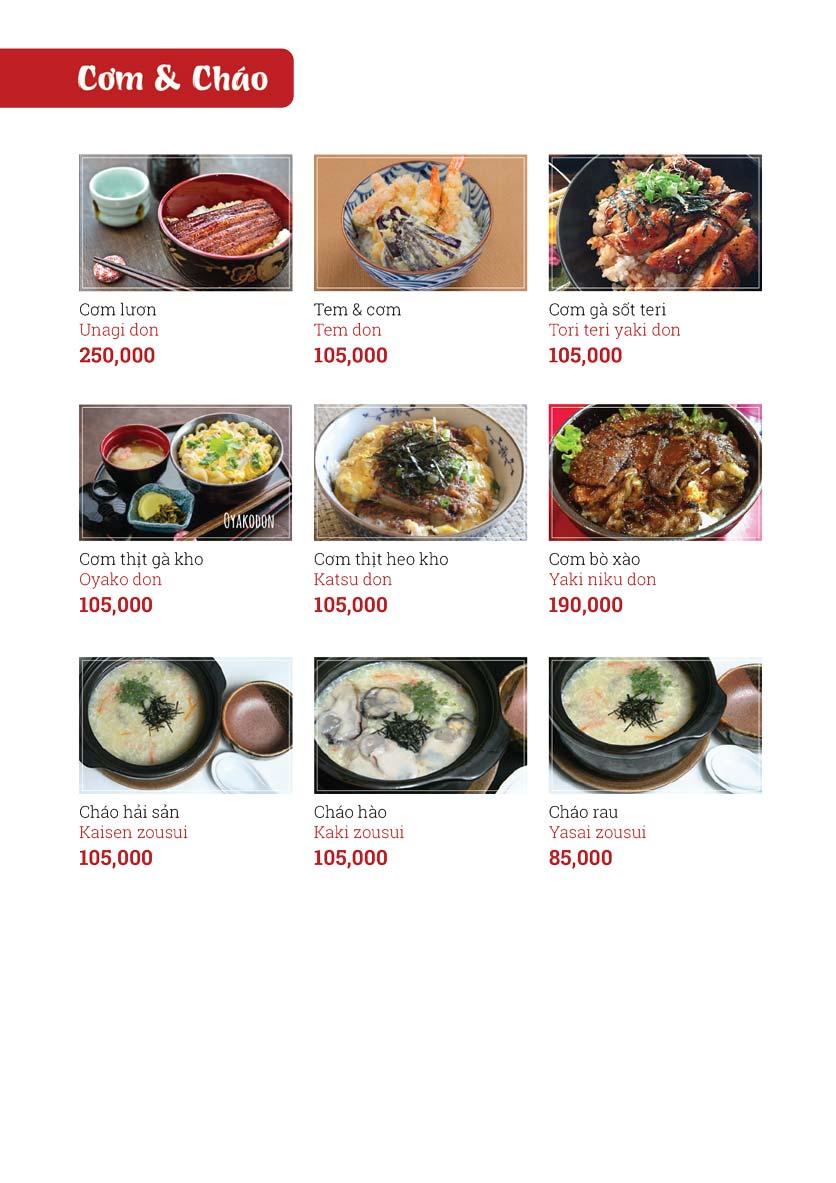 Menu Sushi Ginza - Nguyễn Thiện Thuật 15