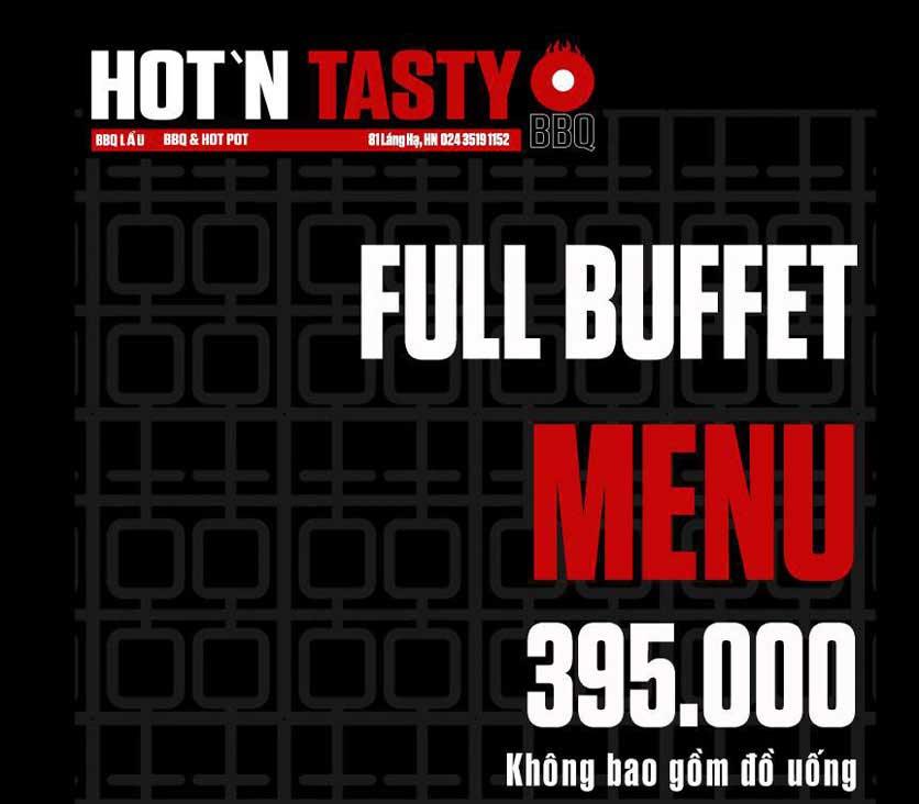 Menu Hot N Tasty - Giảng Võ 15