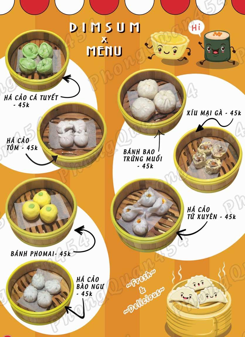 Menu Phong Quán - Bạch Đằng 4