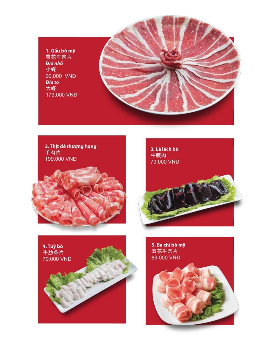 Menu San Xi Lou Hotpot - Láng Hạ 5