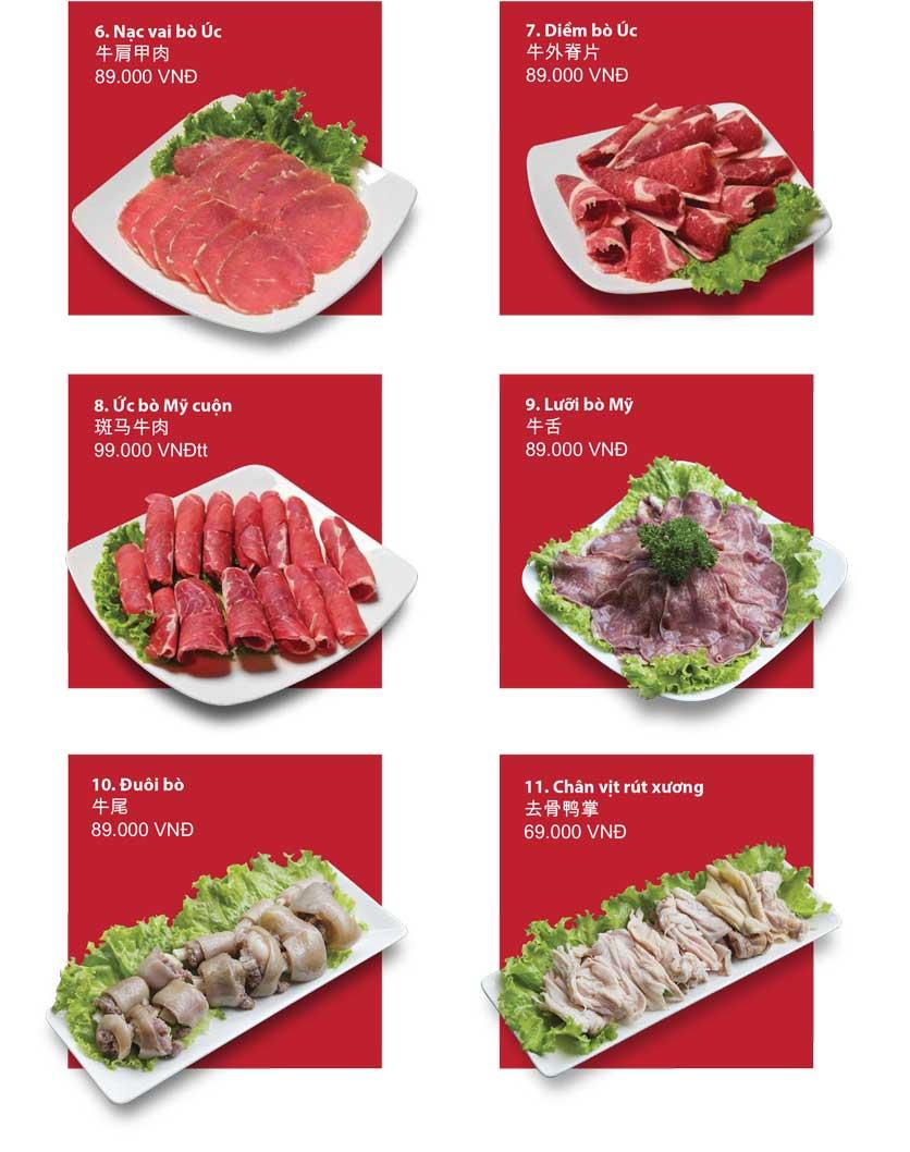 Menu San Xi Lou Hotpot - Láng Hạ 6
