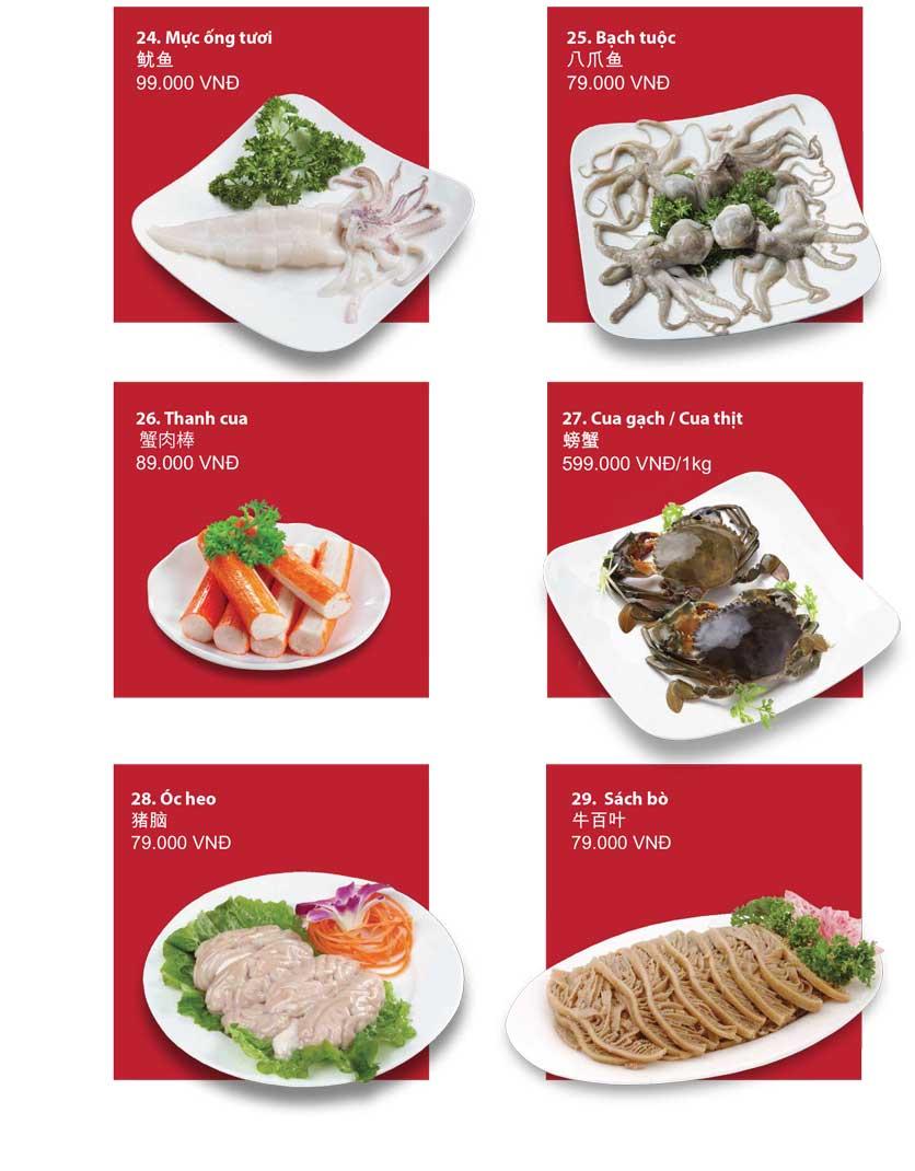 Menu San Xi Lou Hotpot - Láng Hạ 9