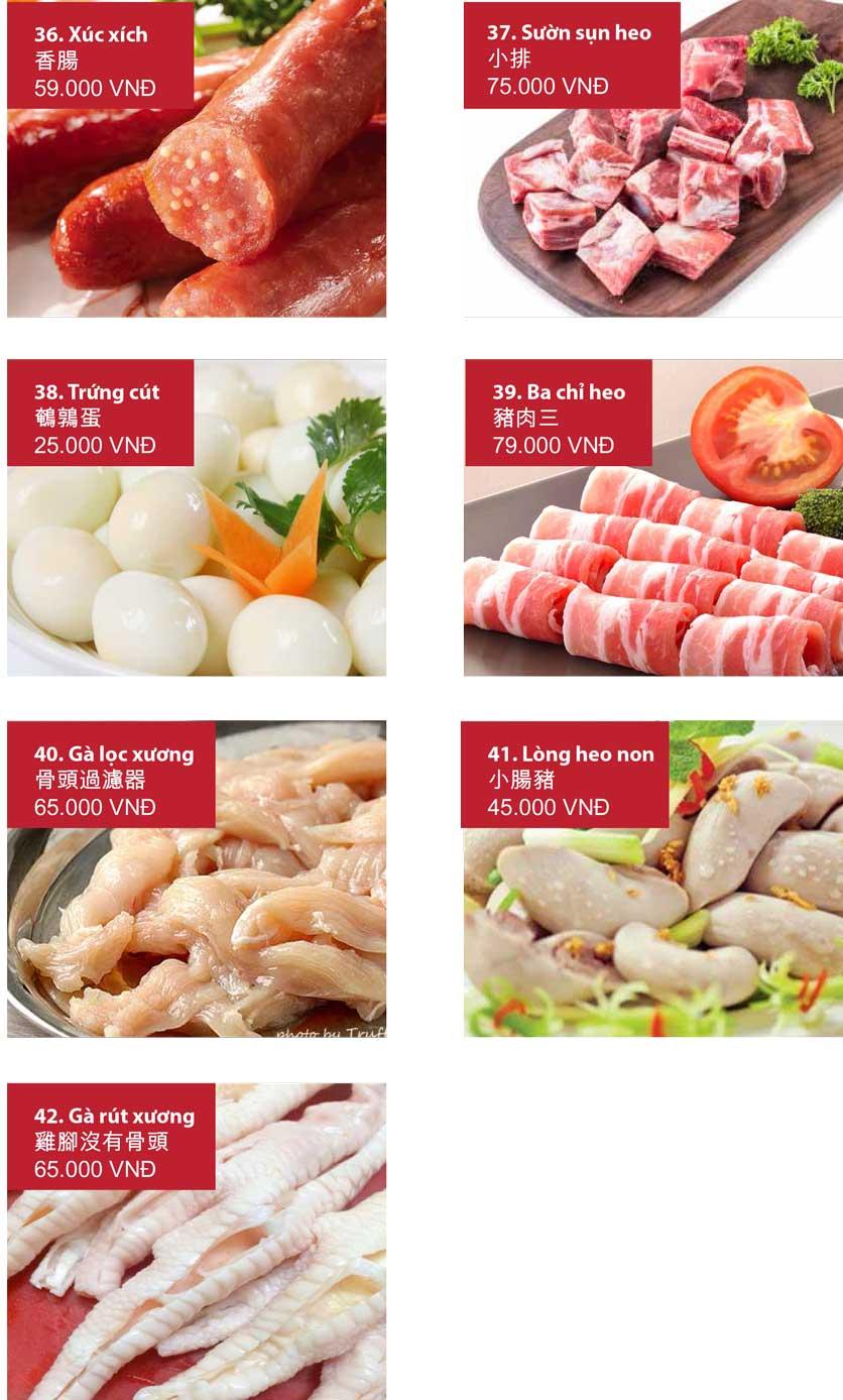 Menu San Xi Lou Hotpot - Láng Hạ 11