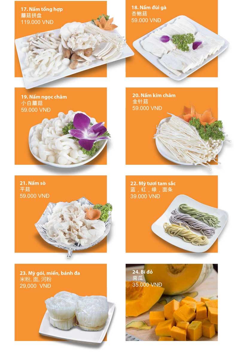 Menu San Xi Lou Hotpot - Láng Hạ 15