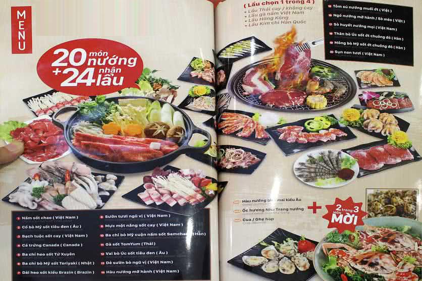 Menu Dedi Deli Seafood BBQ & Hot Pot Buffet – Times City 5