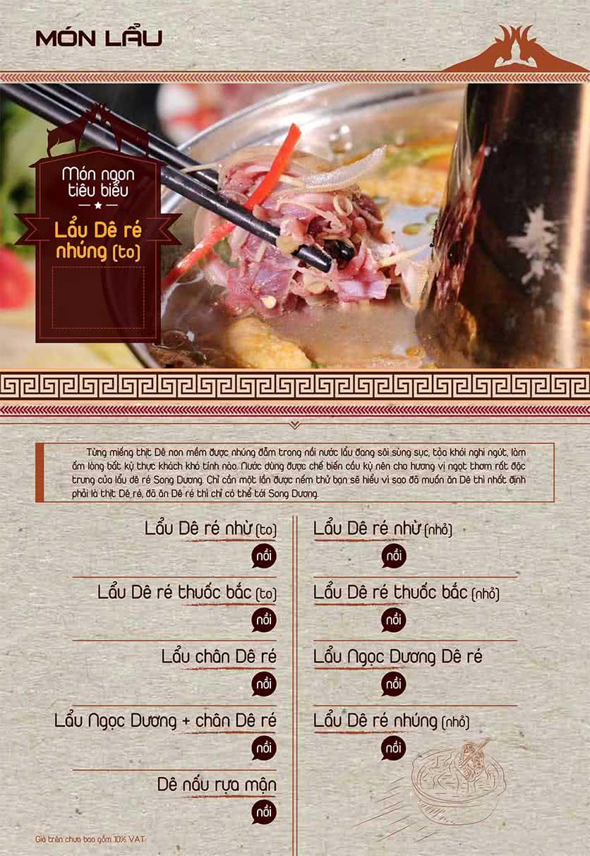 Menu Dê Ré Song Dương - Hàn Thuyên 17