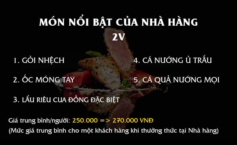 Menu Nhà hàng 2V 1