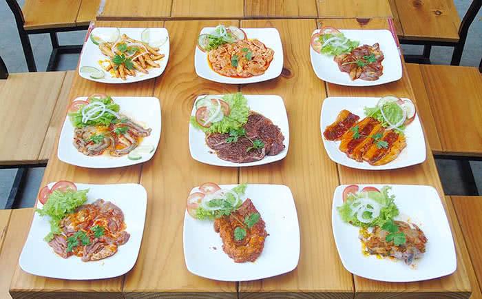 Gác Nướng Aloha 213F Nguyễn Văn Cừ món ăn 1