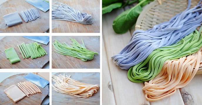 tổng hợp các cách làm mì sợi tươi nhiều màu đơn giản ảnh 1