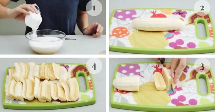 cách làm kem chuối 2