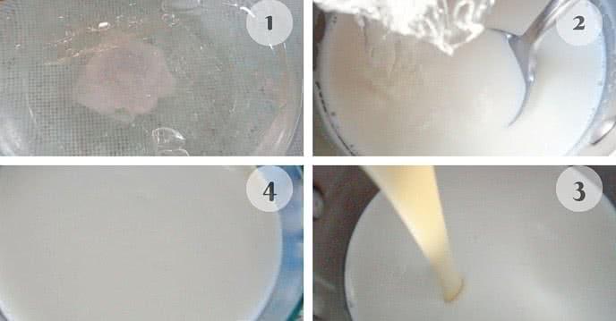 cách làm sữa chua dẻo tại nhà 2