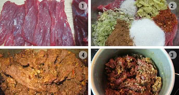 cách làm thịt bò khô tại nhà không cần lò nướng 2