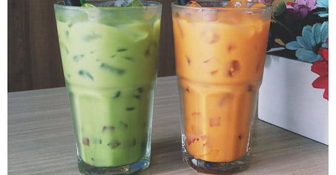 Cách làm trà sữa Thái hai màu thơm ngon mát bổ 2