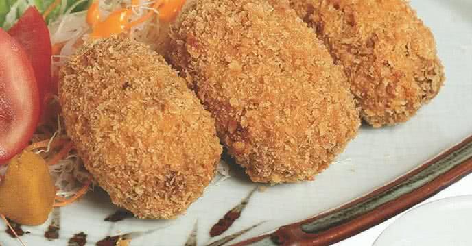 buồn mấy cũng phải cười với bánh korokke ở Haha Sushi 1