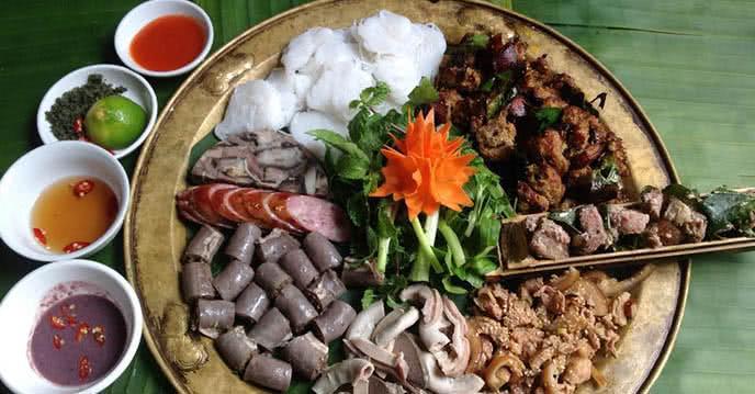 Nhà hàng Cỗ Lá 287 Trần Khát Chân món ăn 2