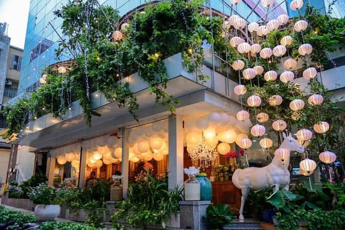 Những nhà hàng có không gian xanh 11