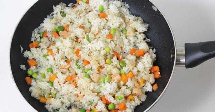 Cách làm cơm chiên hoàng bào 4