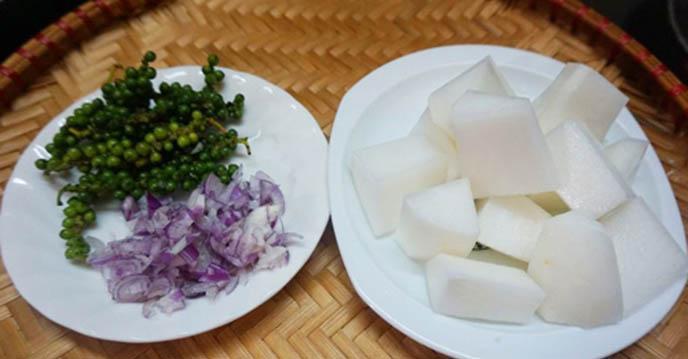 Cách làm dạ dày hầm tiêu xanh 5