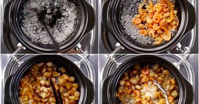 Cách làm kho quẹt - chiên tôm