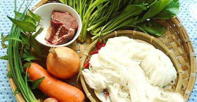 Nguyên liệu - Cách làm phở xào bò