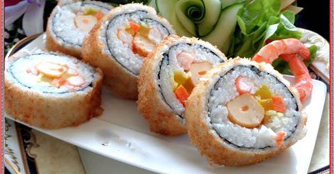 Cách làm sushi chiên giòn - thành phẩm