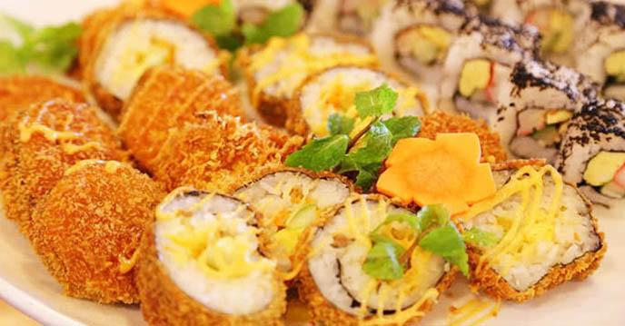 Cách làm sushi chiên giòn 6