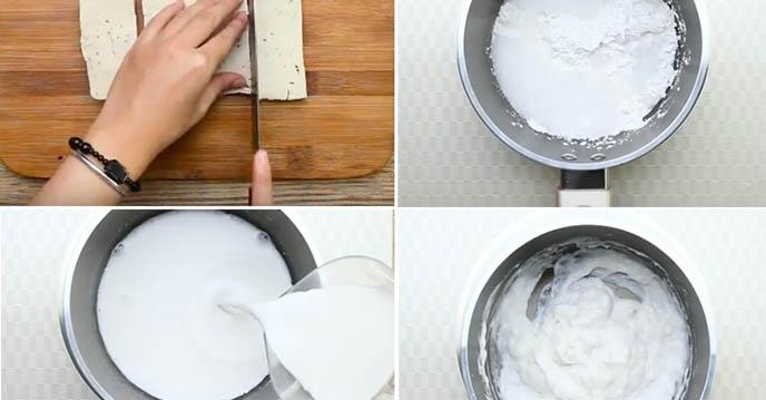 Cách làm thịt heo quay chay - cắt chả chay