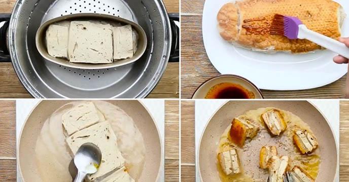 Cách làm thịt heo quay chay - chiên thịt heo chay