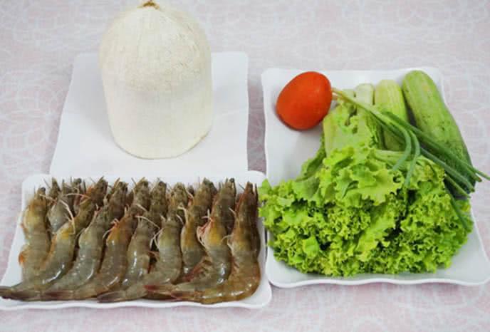 Cách làm tôm sú hấp nước dừa 1