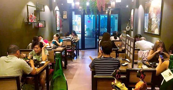 Cách làm trứng cuộn Nhật Bản - không gian nhà hàng Sushi Masa đường 3/2