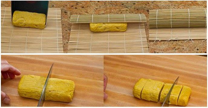 Cách làm trứng cuộn Nhật Bản - món ăn nhà hàng Sushi Masa đường 3/2