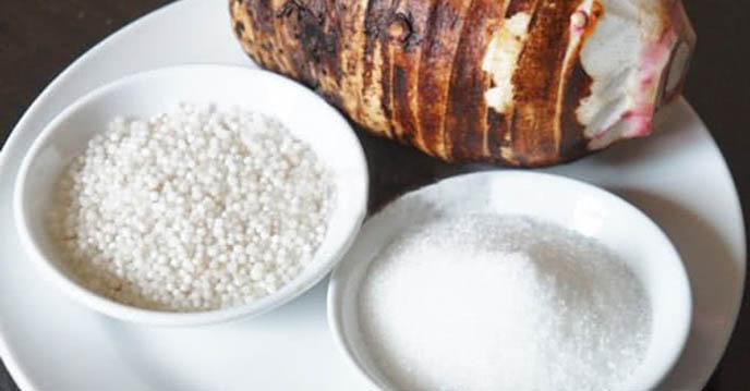 Cách nấu chè khoai môn nức cốt dừa - nguyên liệu nấu chè