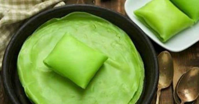 Cách làm 5 món bánh hấp dẫn chỉ với chảo chống dính - bánh crepe lá dứa