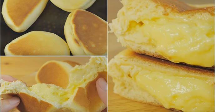 Cách làm 5 món bánh hấp dẫn chỉ với chảo chống dính - Bánh cream bun