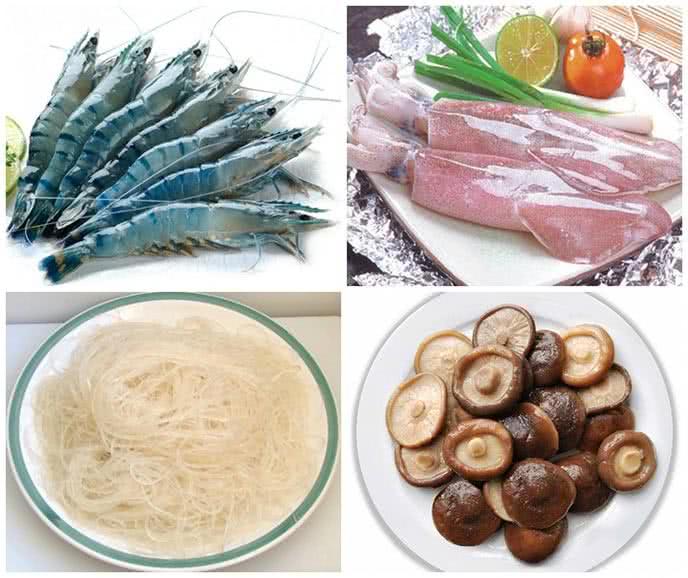 Cách làm miến xào hải sản 1