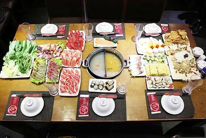 Top 5 nhà hàng buffet lẩu băng chuyền ngon nhất Hà Nội 2