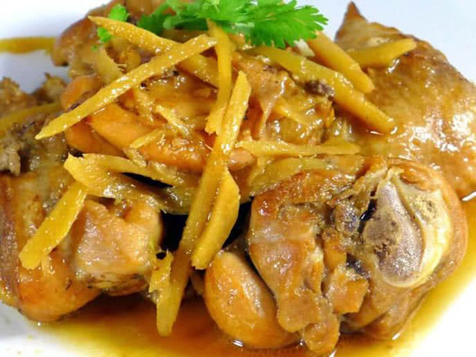 Kết quả hình ảnh cho Cách nấu món thịt gà kho gừng ngon đậm đà đưa cơm
