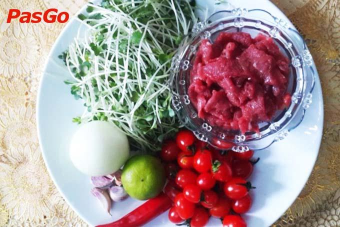 cách làm salad rau mầm 2