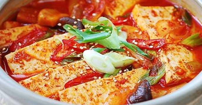 tổng hợp những món ăn hàn quốc ngon - đậu phụ om kiểu hàn